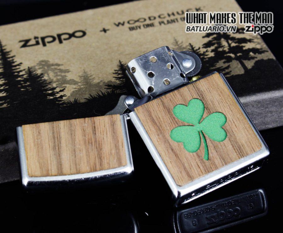 Zippo 49056 - Zippo Woodchuck Clover Street Chrome 8