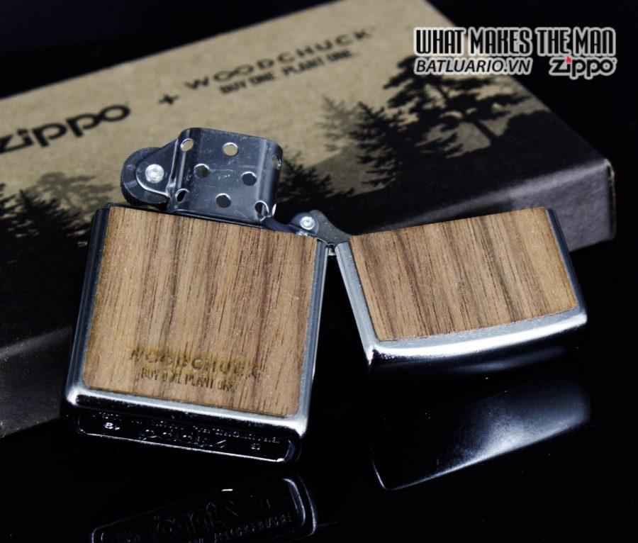 Zippo 49056 - Zippo Woodchuck Clover Street Chrome 9