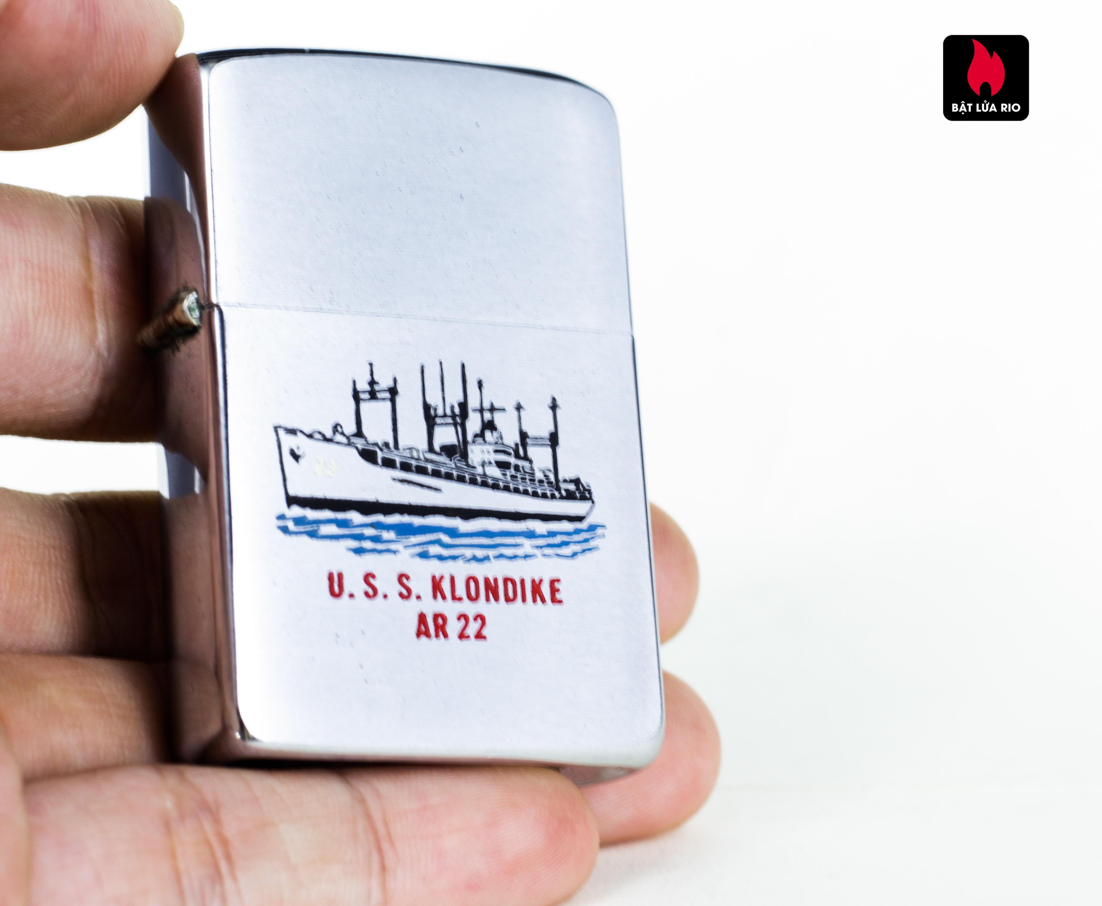 ZIPPO XƯA 1959 - USS KLONDIKE AR 22