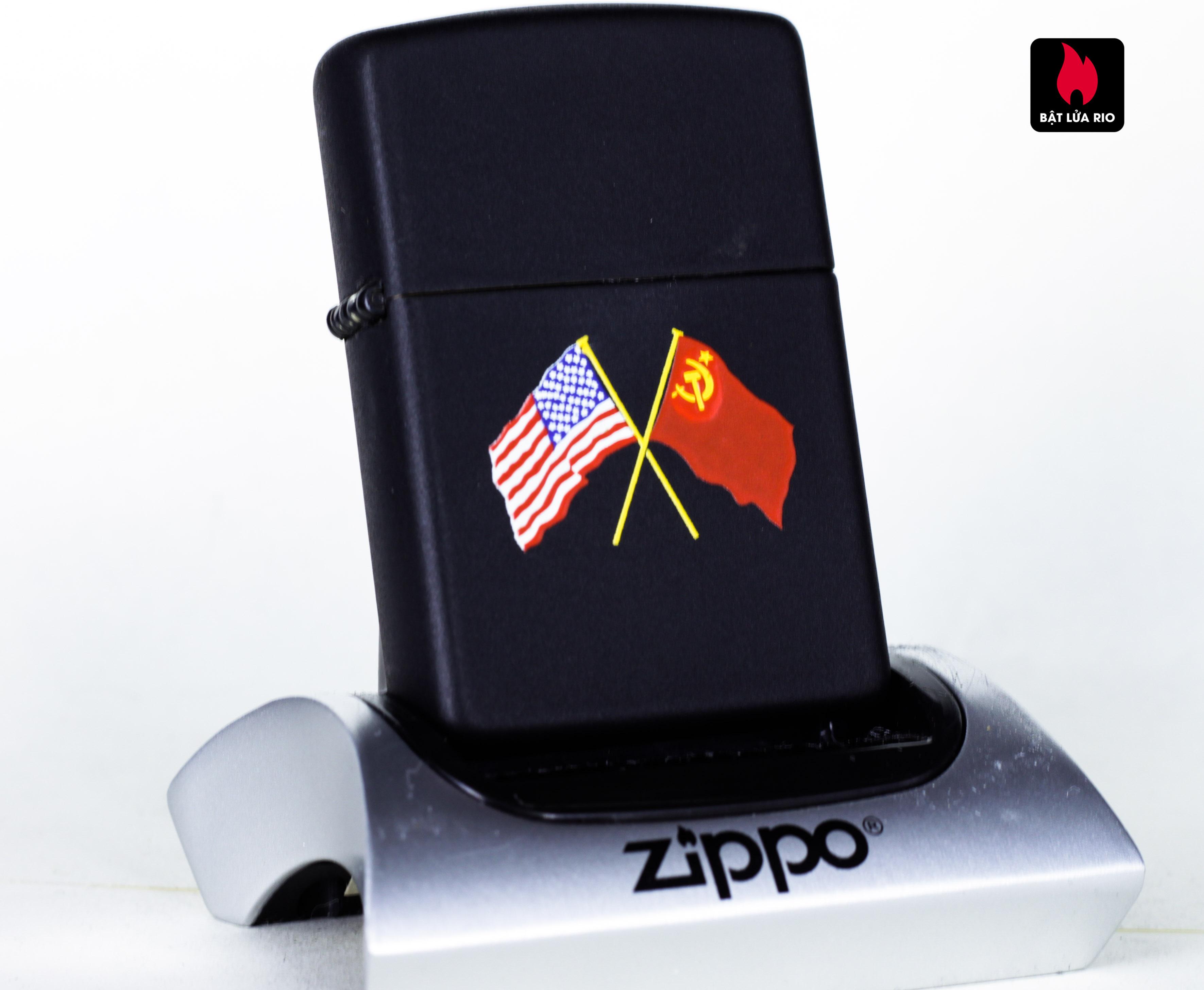 ZIPPO LA MÃ 1990 - AMERICAN & LIEN XO FLAG