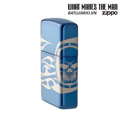 Zippo 49048 - Zippo Tattoo Design High Polish Blue Laser 360° 1