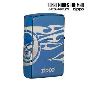 Zippo 49048 - Zippo Tattoo Design High Polish Blue Laser 360° 3