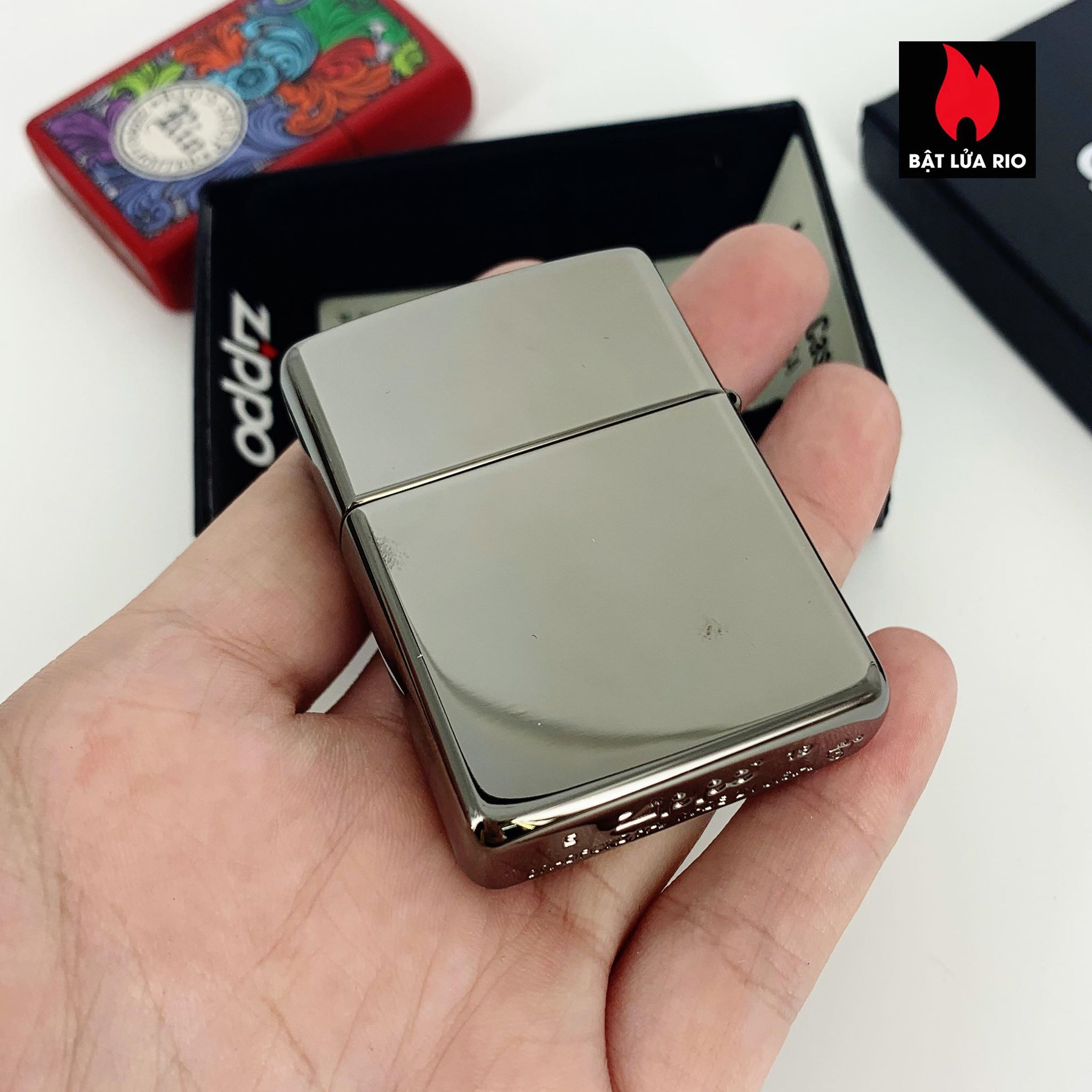 Zippo 29928 - Zippo Armor® Flame Design Black Ice 3