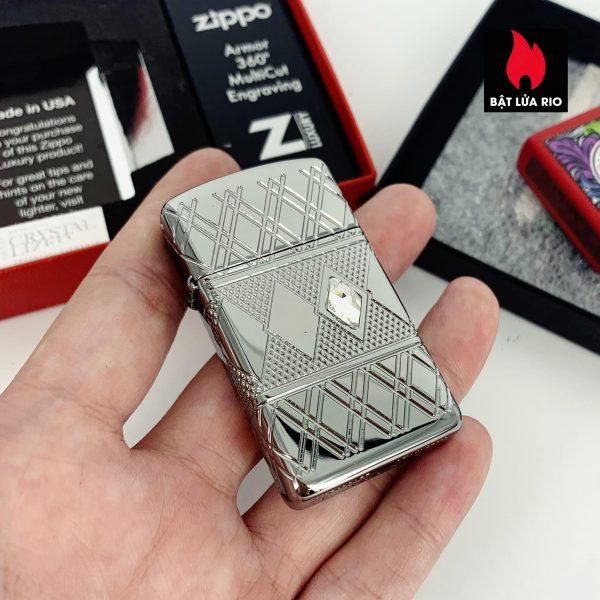 Zippo 49052 - Zippo Slim® Armor® Diamond Pattern Design High Polish Chrome 1