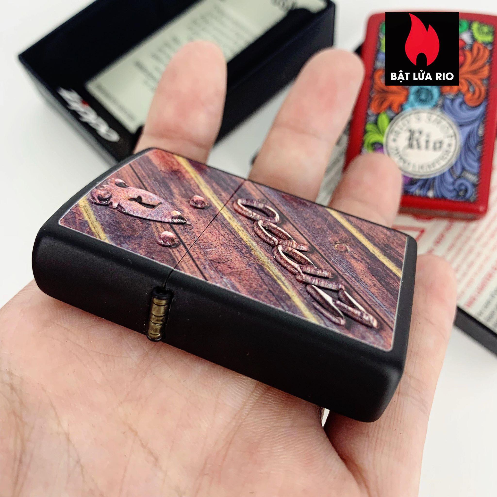 Zippo 29986 - Zippo Lock Design Black Matte 2