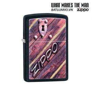 Zippo 29986 - Zippo Lock Design Black Matte