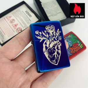 Zippo 29987 - Zippo Heart Vase Design High Polish Indigo 1