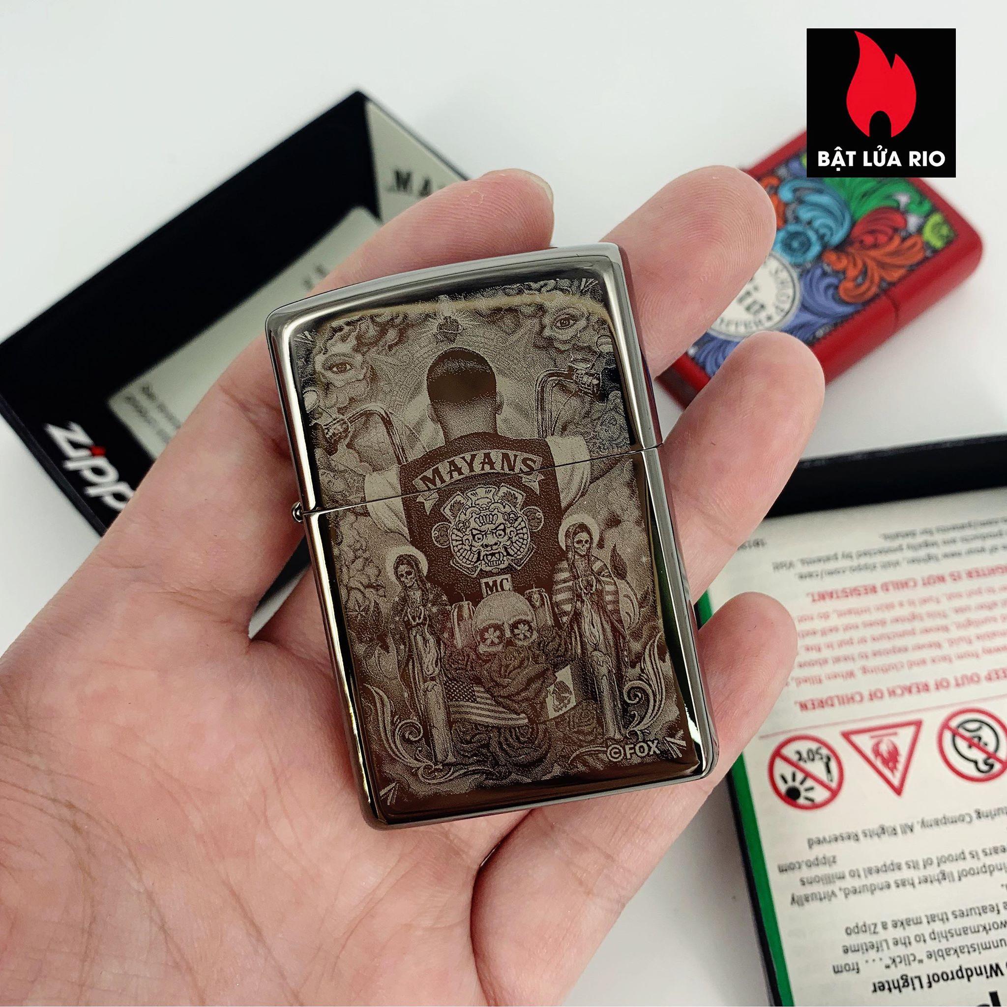 Zippo 49031 - Zippo Mayans M.C. Black Ice® 1