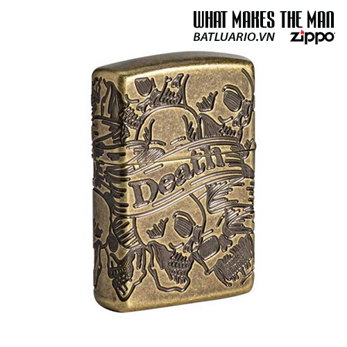 Zippo 49035 - Zippo Armor® Freedom Skull Antique Brass 360° MultiCut 1