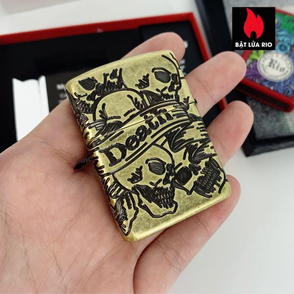 Zippo 49035 - Zippo Armor® Freedom Skull Antique Brass 360° MultiCut 5