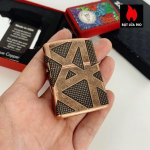 Zippo 49036 - Zippo Armor® Geometric 360 Design Antique Copper 1