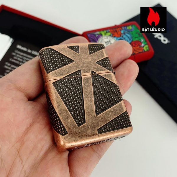 Zippo 49036 - Zippo Armor® Geometric 360 Design Antique Copper 2