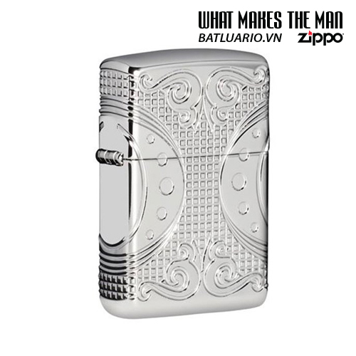 Zippo 49037 - Zippo Armor® Geometric Space Design High Polish Chrome