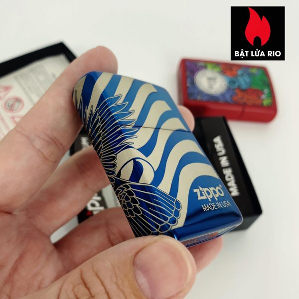 Zippo 49046 - Zippo Patriotic Design High Polish Blue 3