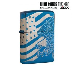 Zippo 49046 - Zippo Patriotic Design High Polish Blue