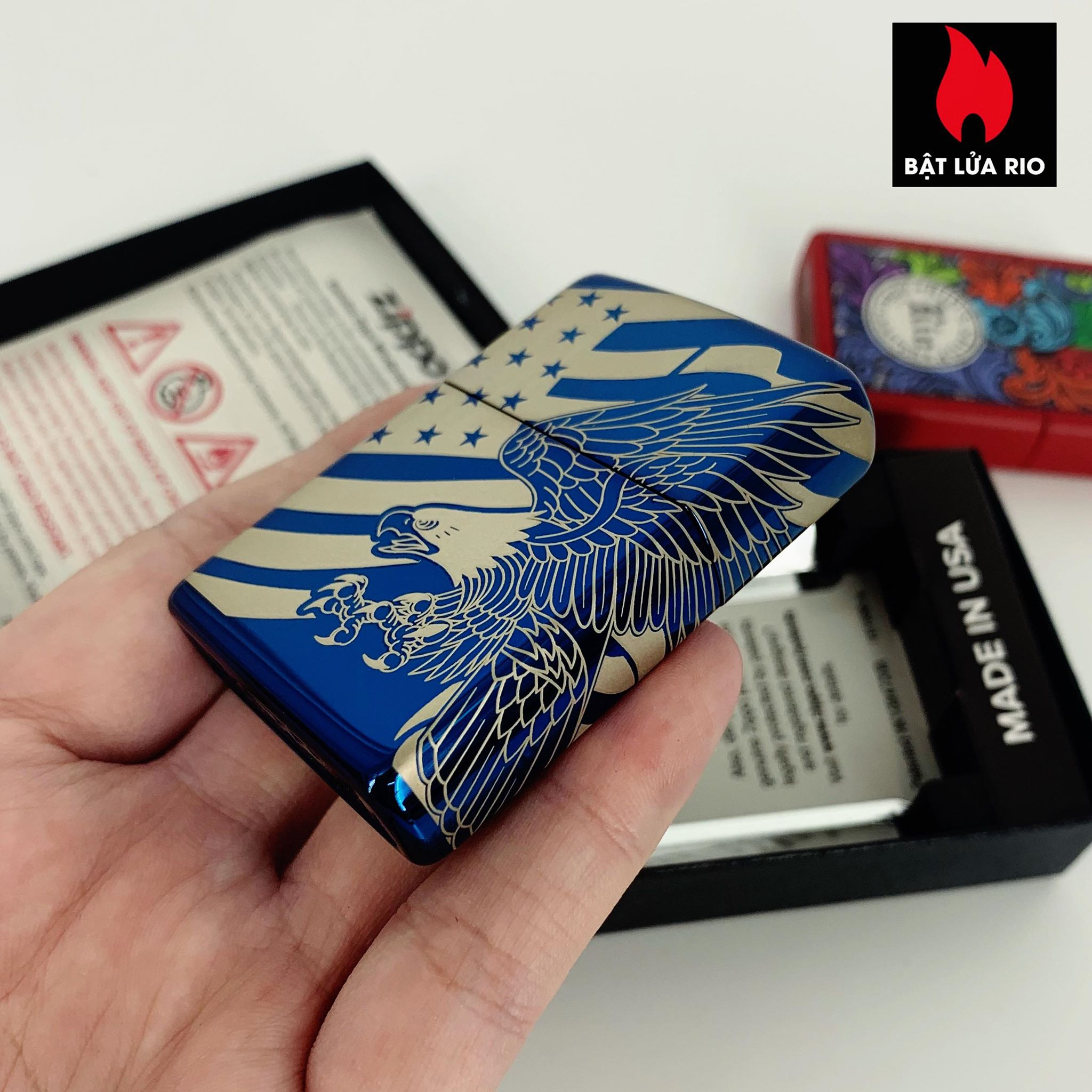 Zippo 49046 - Zippo Patriotic Design High Polish Blue 4