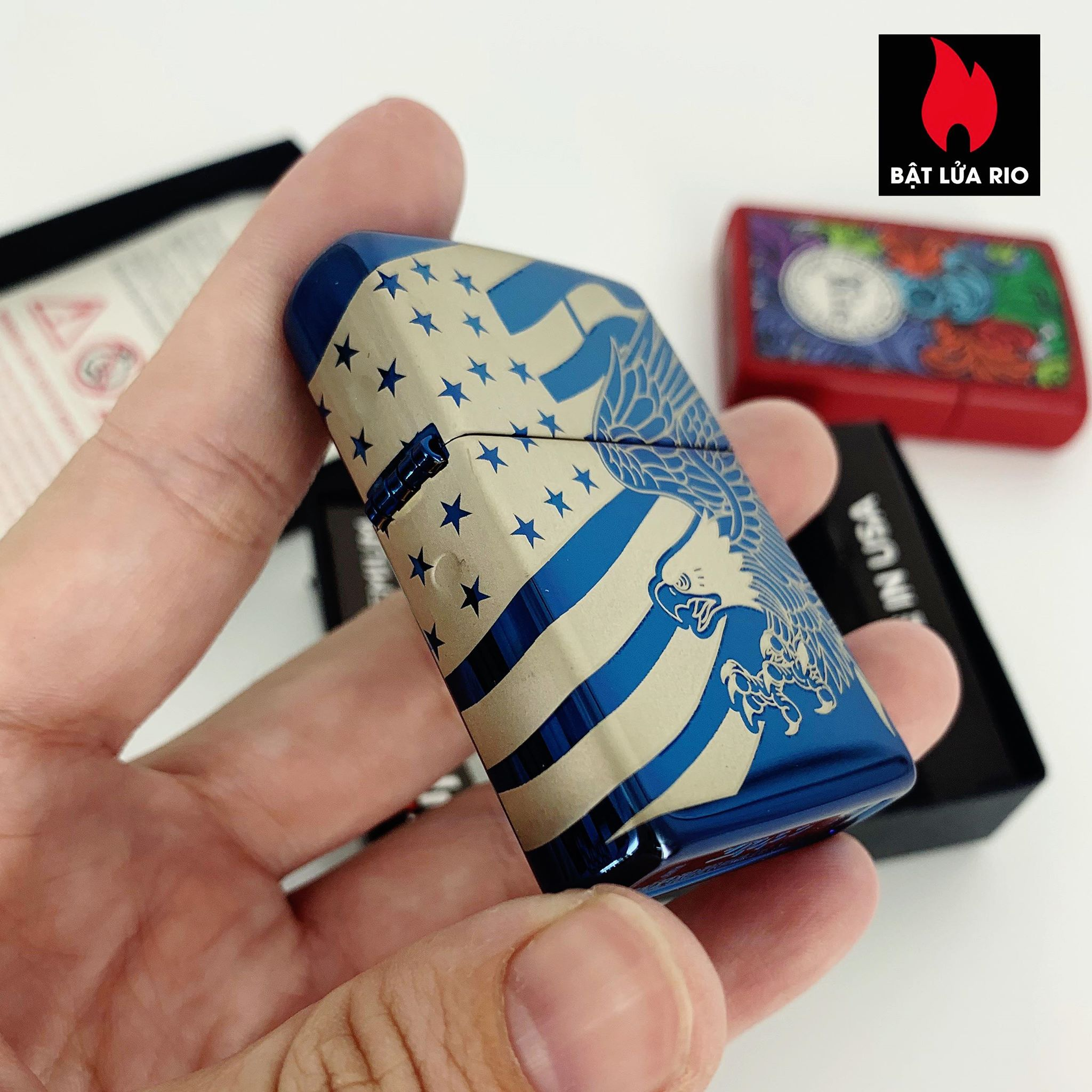 Zippo 49046 - Zippo Patriotic Design High Polish Blue 5