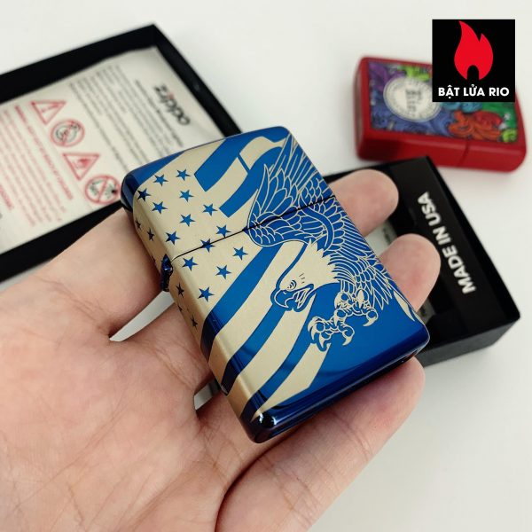 Zippo 49046 - Zippo Patriotic Design High Polish Blue 8