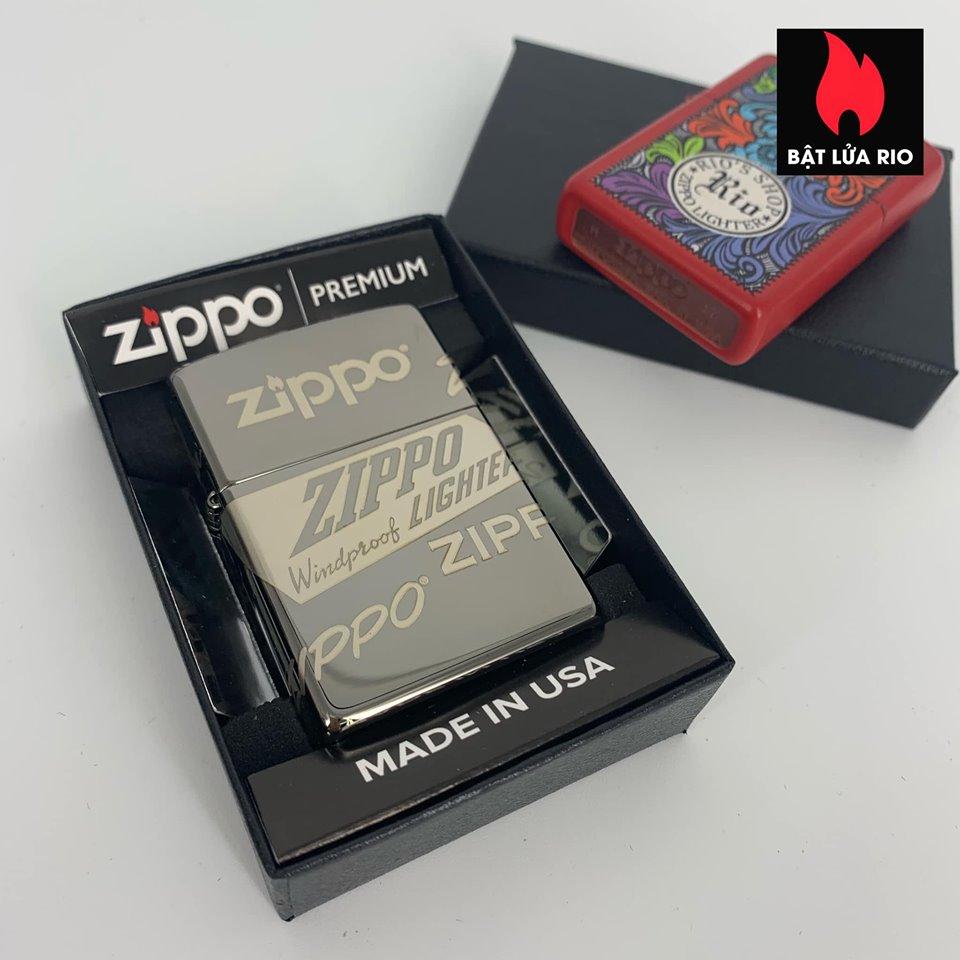 Zippo 49051 - Zippo Logo Design Black Ice® 360° Laser 1