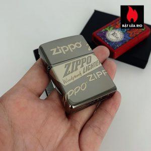 Zippo 49051 - Zippo Logo Design Black Ice® 360° Laser 2