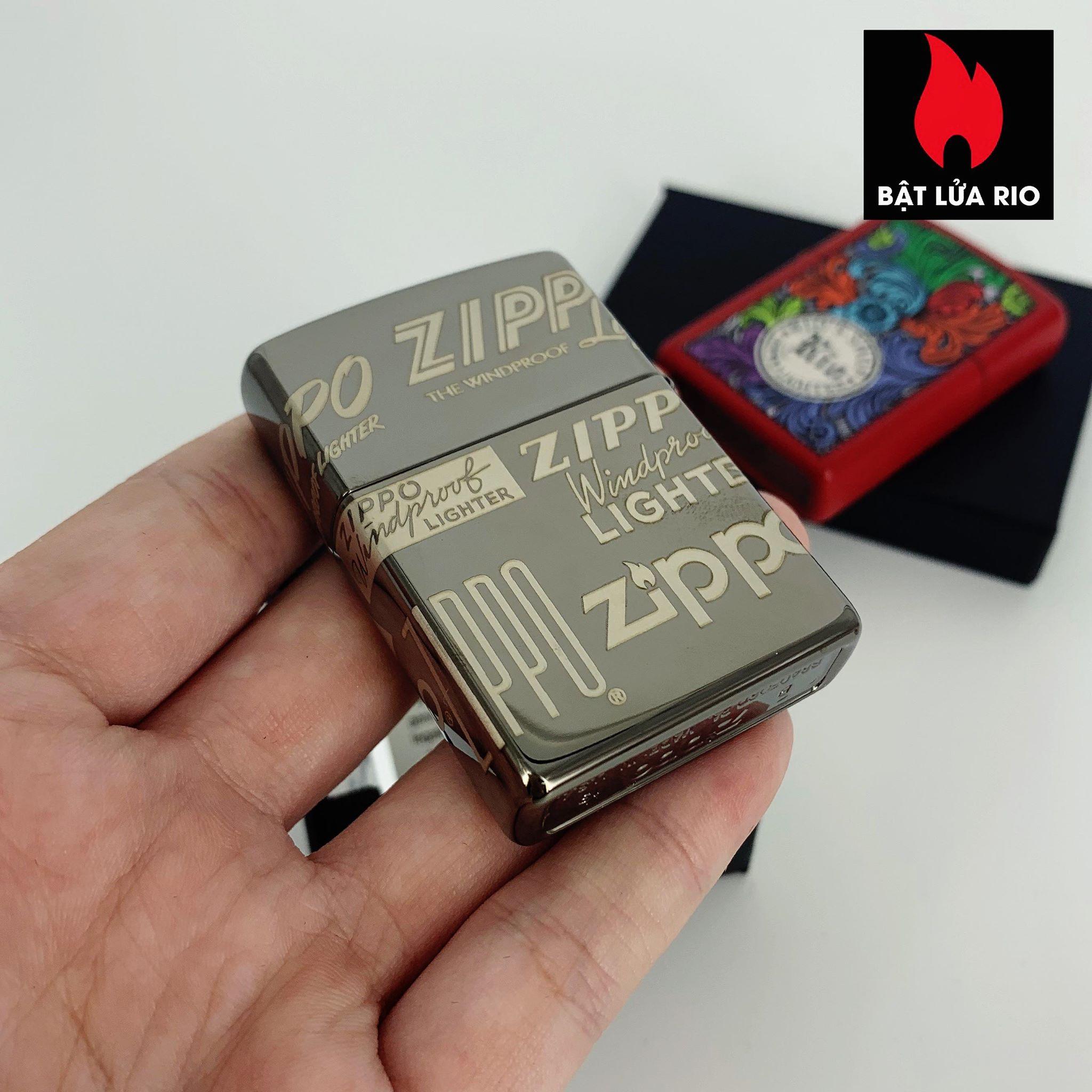 Zippo 49051 - Zippo Logo Design Black Ice® 360° Laser 3