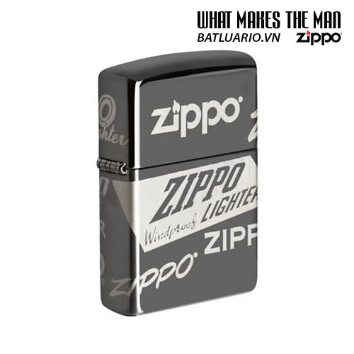 Zippo 49051 - Zippo Logo Design Black Ice® 360° Laser