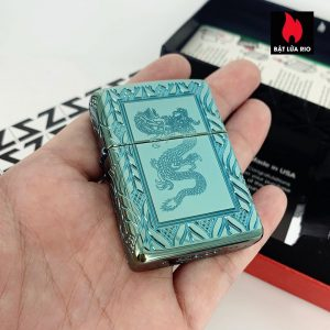 Zippo 49054 - Zippo Armor® High Polish Green Elegant Dragon 3