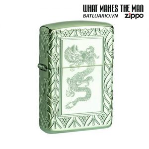 Zippo 49054 - Zippo Armor® High Polish Green Elegant Dragon
