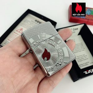 Zippo 49058 - Zippo Armor® Poker Chip Design High Polish Chrome 1
