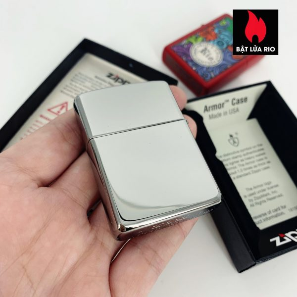 Zippo 49058 - Zippo Armor® Poker Chip Design High Polish Chrome 2