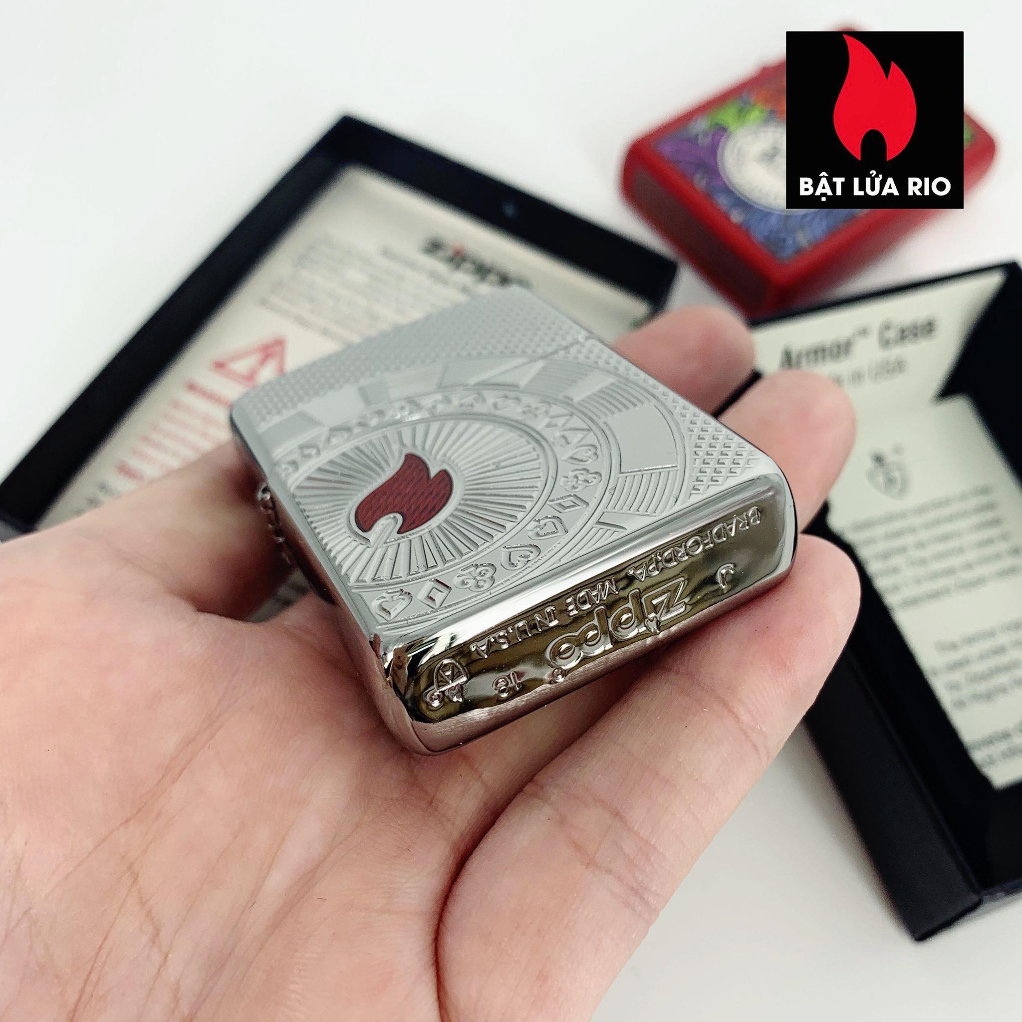 Zippo 49058 - Zippo Armor® Poker Chip Design High Polish Chrome 3