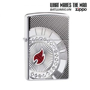 Zippo 49058 - Zippo Armor® Poker Chip Design High Polish Chrome