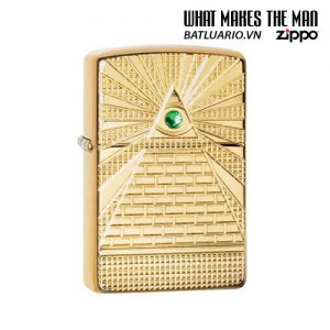 Zippo 49060 - Zippo Armor® Eye of Providence Design High Polish Brass
