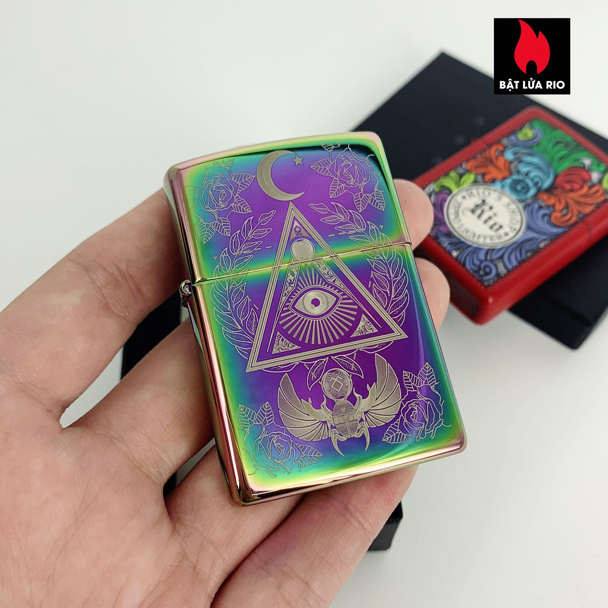Zippo 49061 - Zippo Eye of Providence Design Multi Color 2