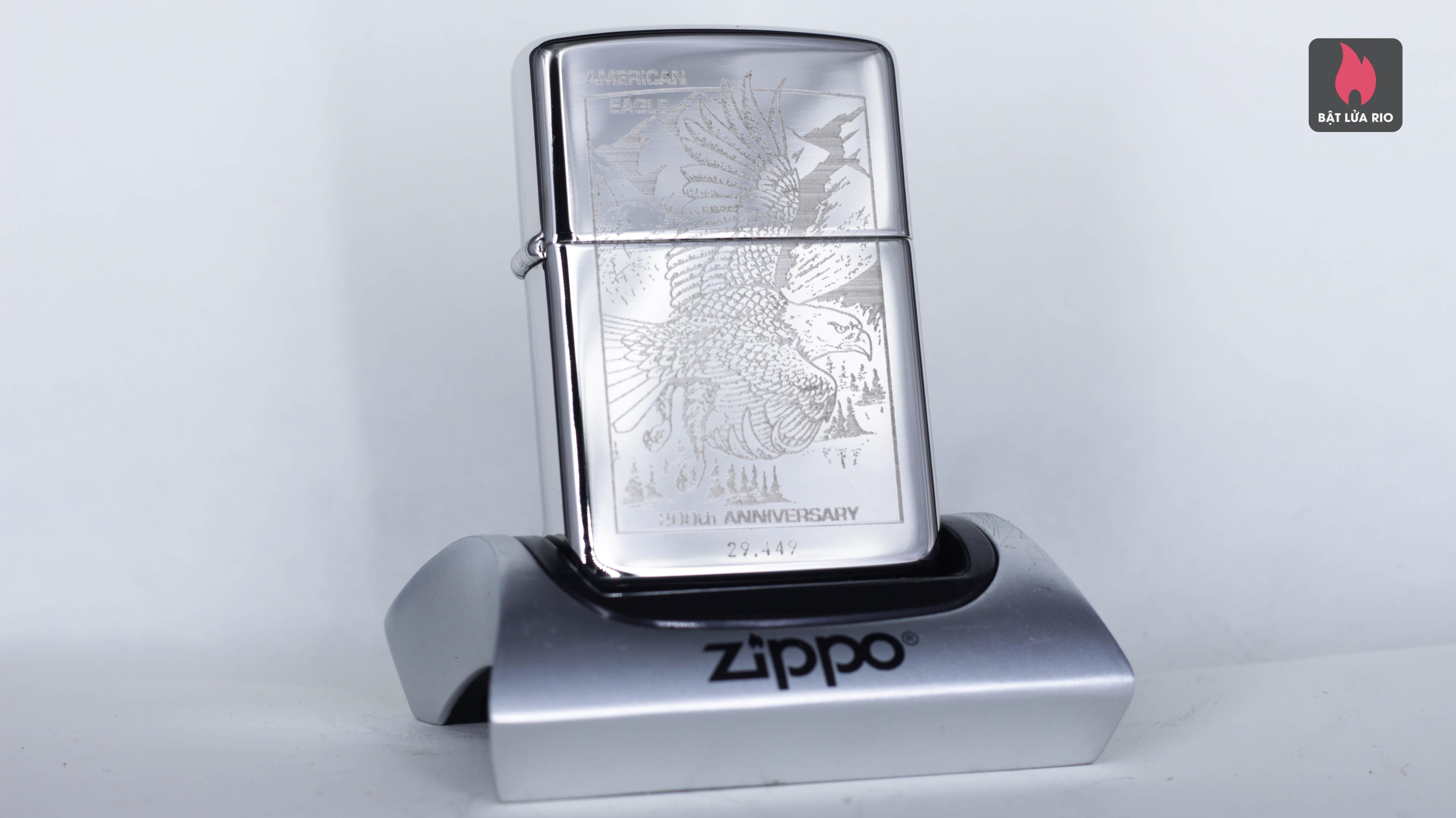 ZIPPO LA MÃ 1993 – 200TH ANNIVERSARY AMERICAN EAGLE - SILVER PLATE