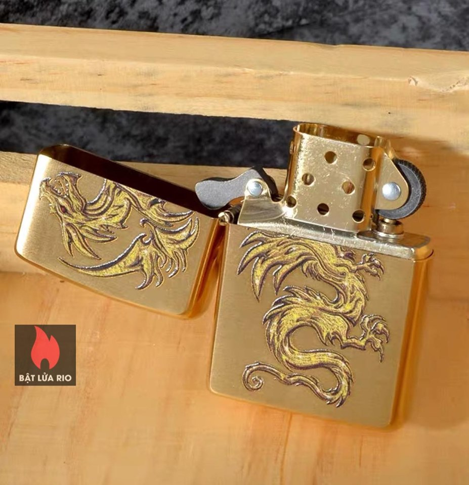 Zippo 29725 - Zippo Dragon Design Brushed Brass 5