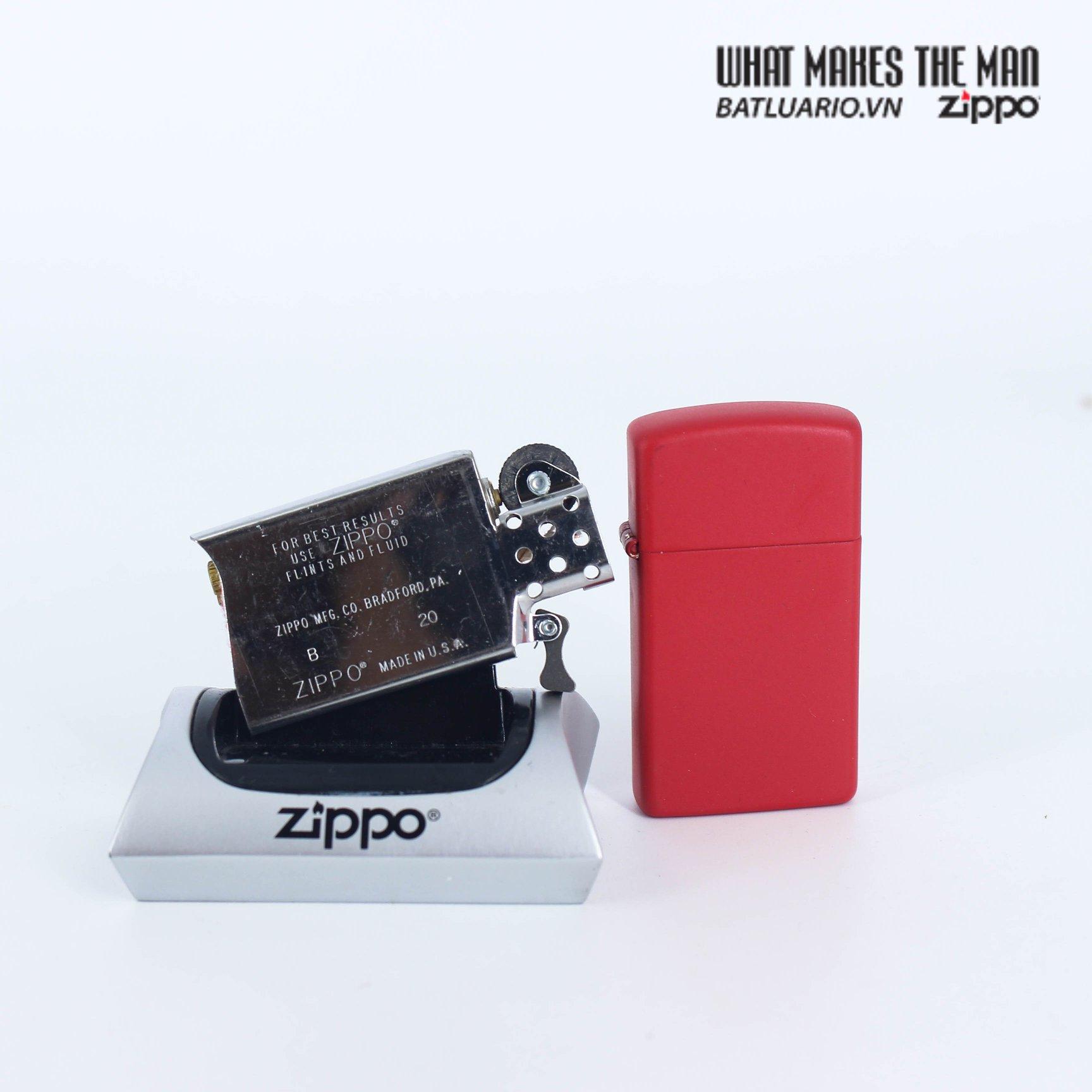 Zippo 1633 - Zippo Slim® Red Matte 5