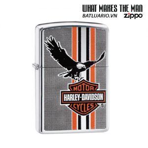 Zippo 29656 - Zippo Harley-Davidson® Eagle Stripes High Polish Chrome