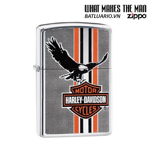 Zippo 29656 - Zippo Harley-Davidson® Eagle Stripes High Polish Chrome