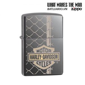 Zippo 29737 - Zippo Harley-Davidson® Bar & Shield Logo Black Ice