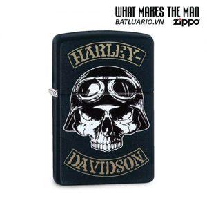 Zippo 29738 - Zippo Harley-Davidson® Skull Motorbike Rider Black Matte