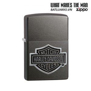 Zippo 29822 - Zippo Harley-Davidson® Bar & Shield Grey Logo Emblem
