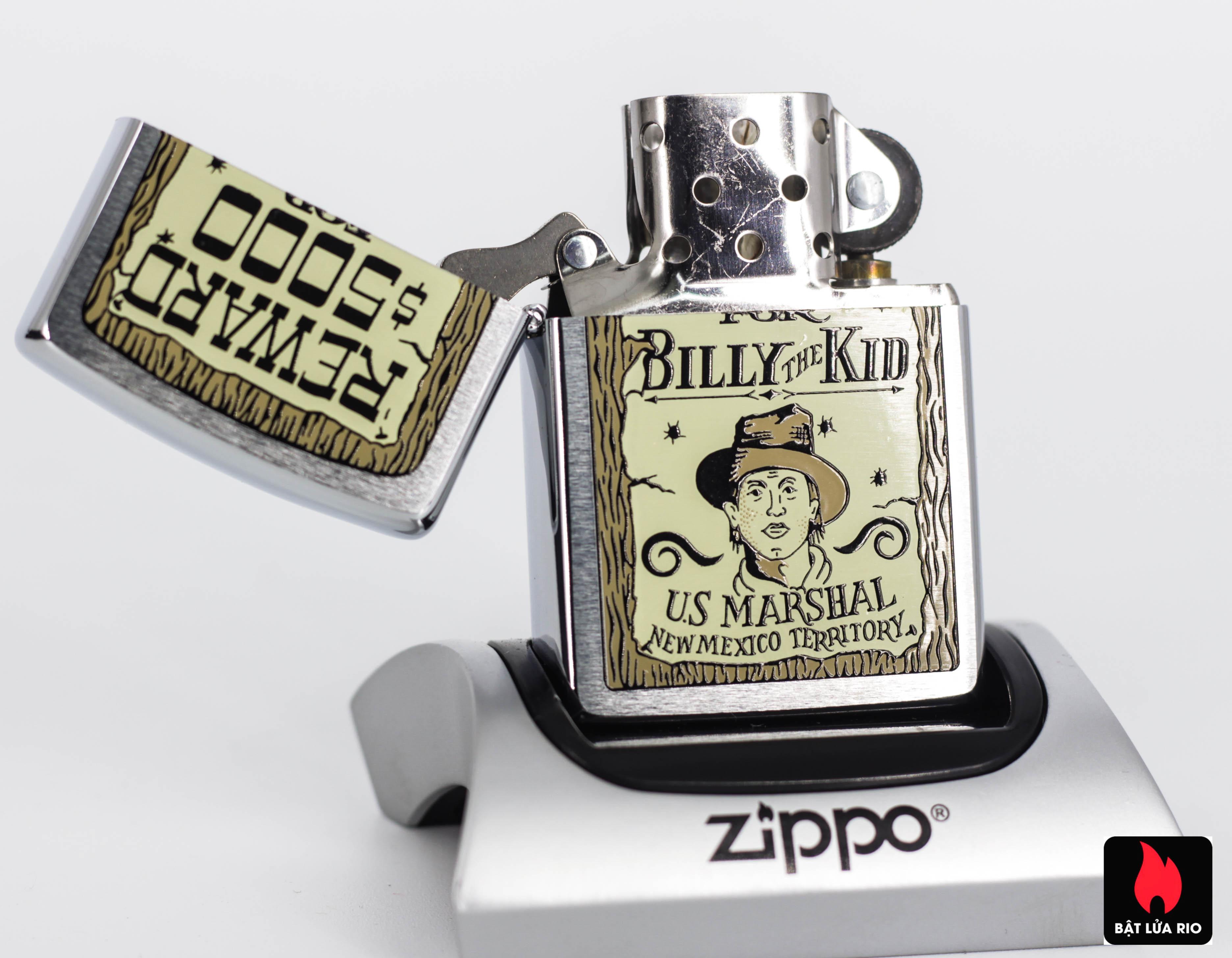 ZIPPO LA MÃ 1995 - REWARD $5000 - BILLY THE KID