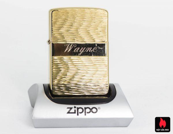 ZIPPO XƯA 1977 – MẠ VÀNG 22K – GOLD PLATE GOLDEN ELEGANCE - WAYNE
