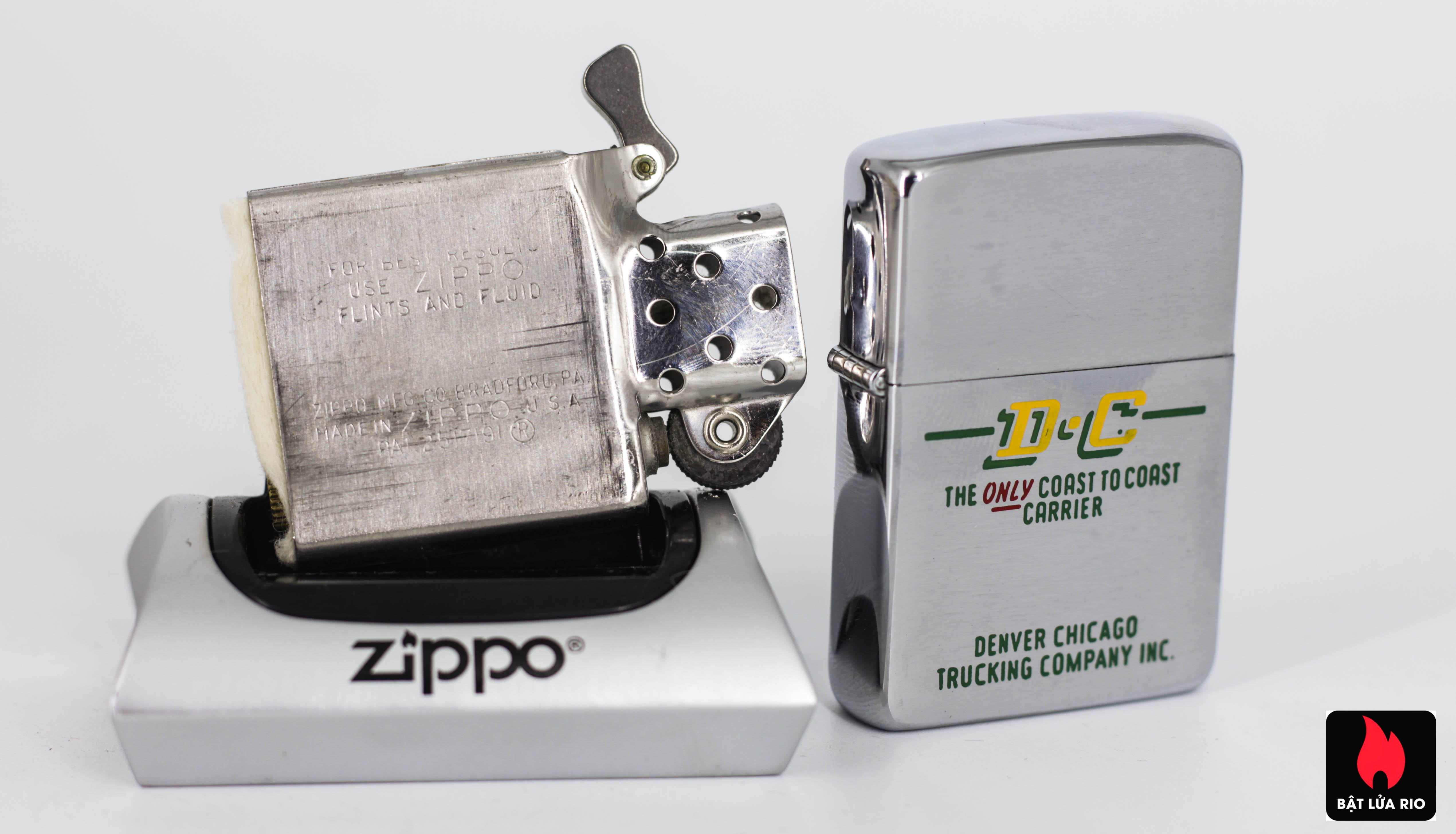 ZIPPO XƯA 1960 - DENVER CHICAGO TRUCKING COMPANY