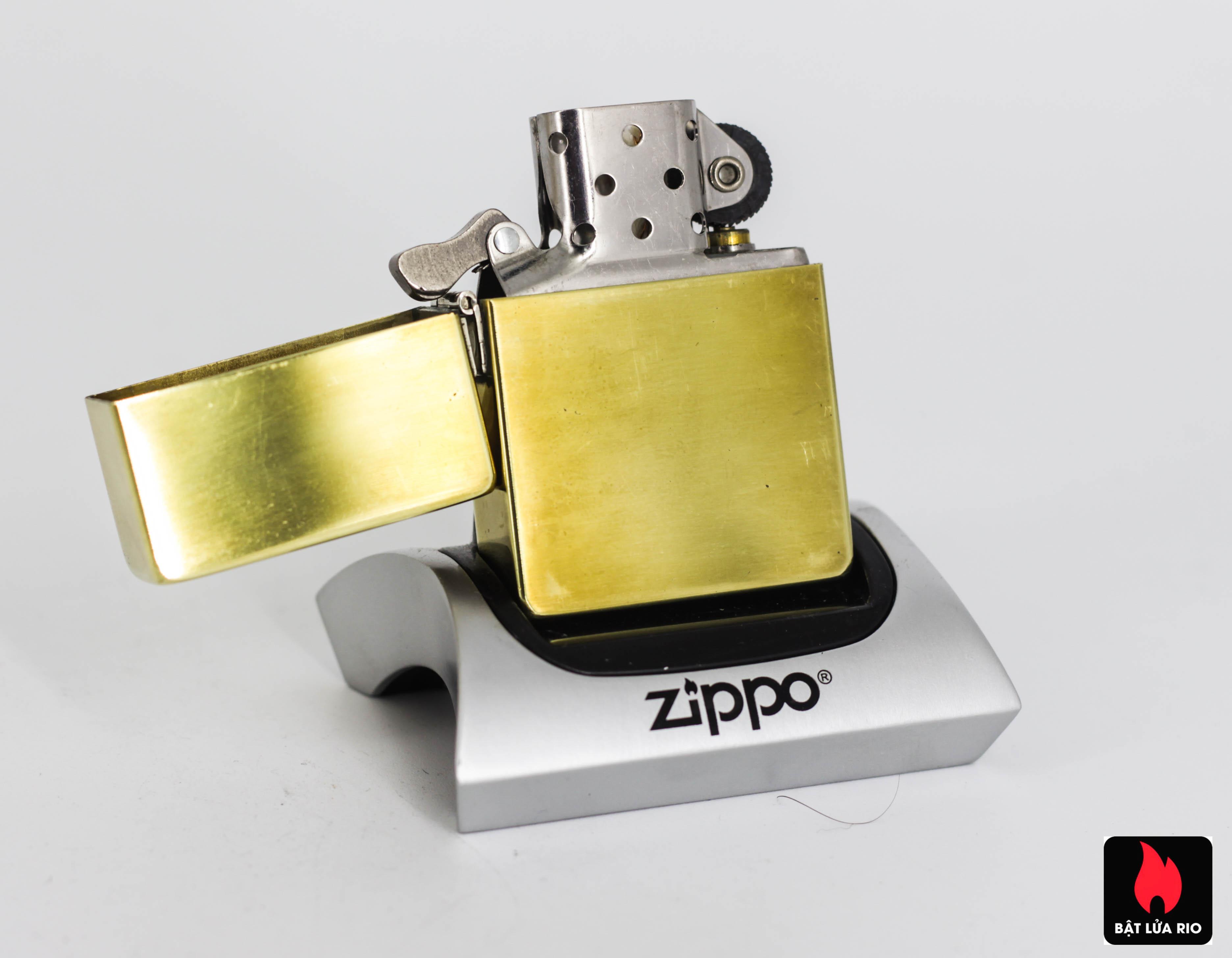 ZIPPO 2008 - REPLICA 1935 - ĐỒNG NGUYÊN KHỐI
