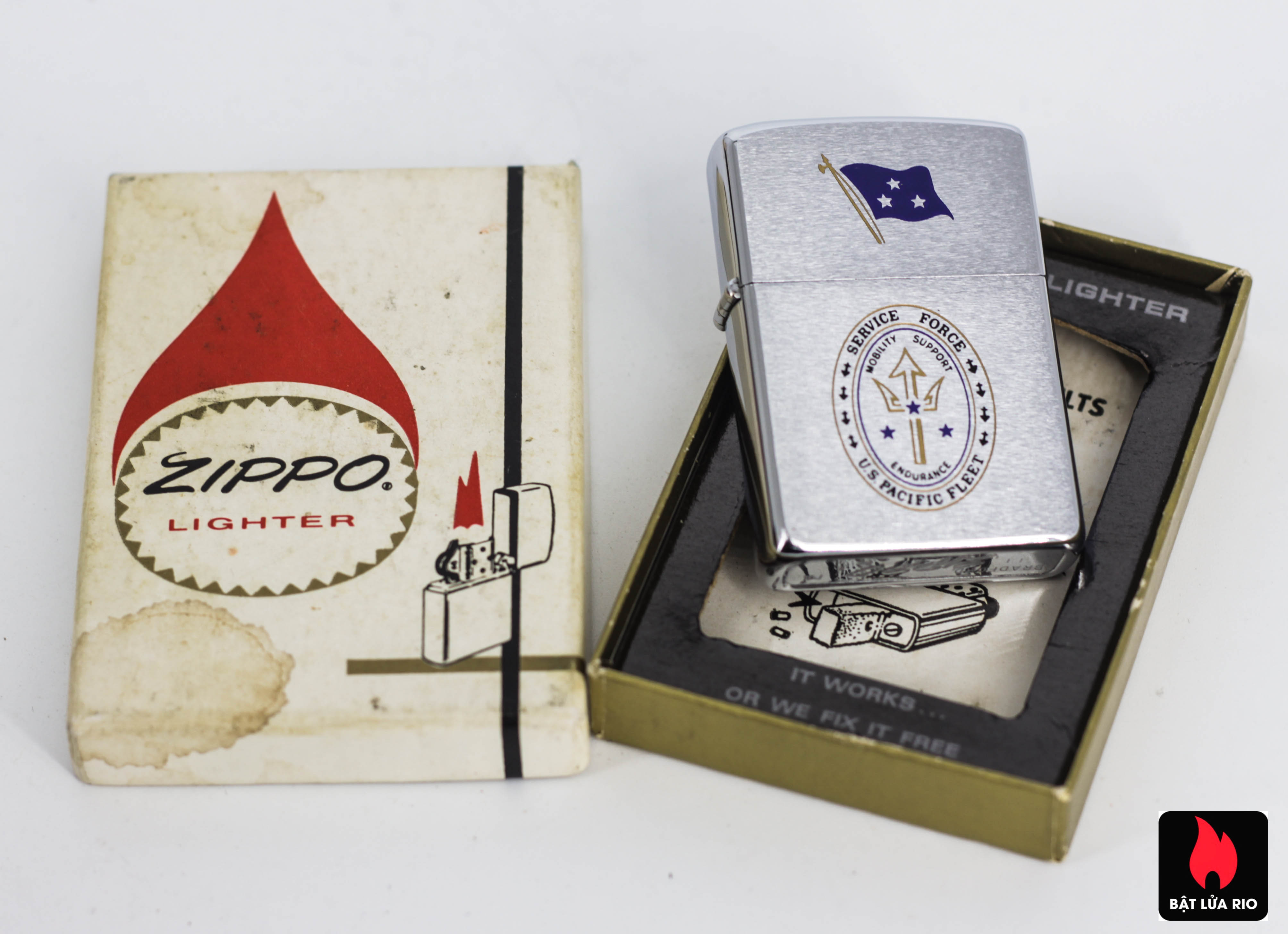 ZIPPO XƯA 1971 - US PACIFIC FLEET SERVICE FORCE