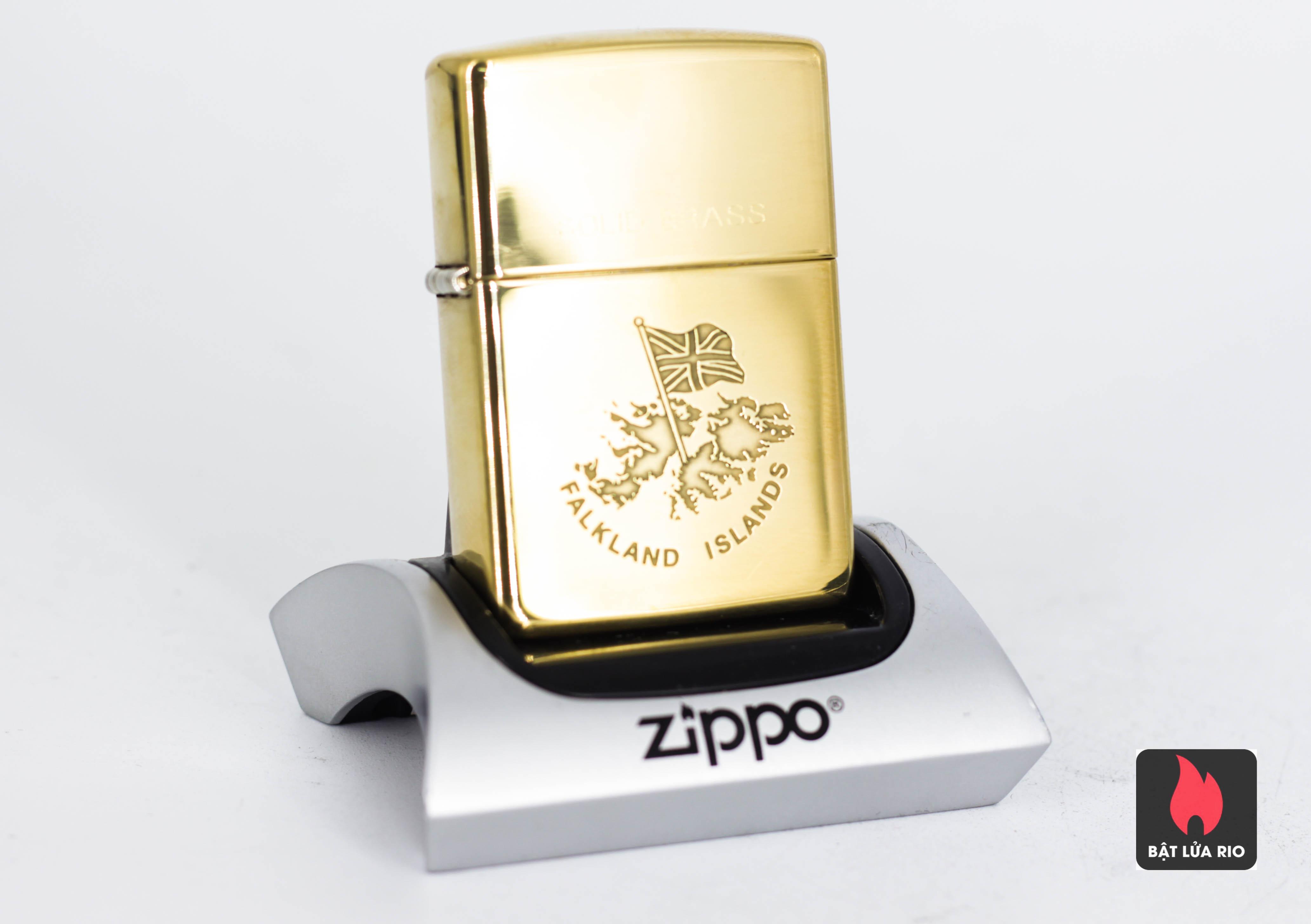ZIPPO LA MÃ 1996 - ĐỒNG NGUYÊN KHỐI - FALKLAND ISLANDS
