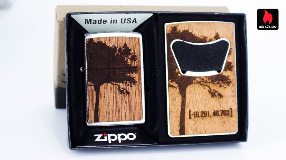 Zippo 49066 – Zippo WOODCHUCK USA Lighter & Bottle Opener Gift Set 2