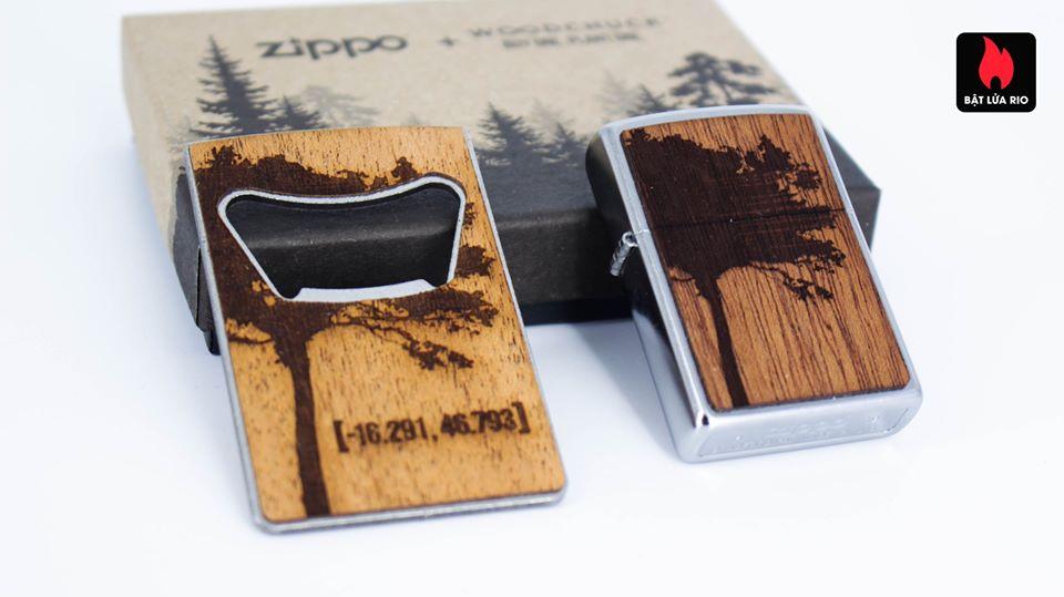 Zippo 49066 – Zippo WOODCHUCK USA Lighter & Bottle Opener Gift Set 4